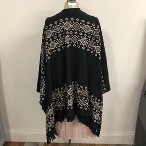 Mossimo Supply Co. Sweaters - Mossimo Aztec poncho size S/M